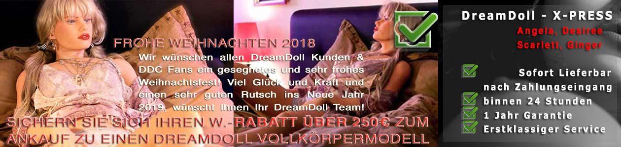 DreamDoll Weihnachtsangebot 2018 200 Euro Rabatt!
